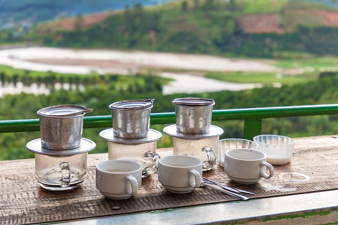 Coffee prepared in a filter (cà phê phin)| Saigon Riders