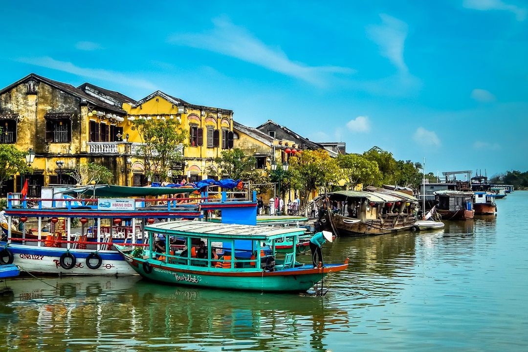 The whole beauty of Hoi An's ancient town