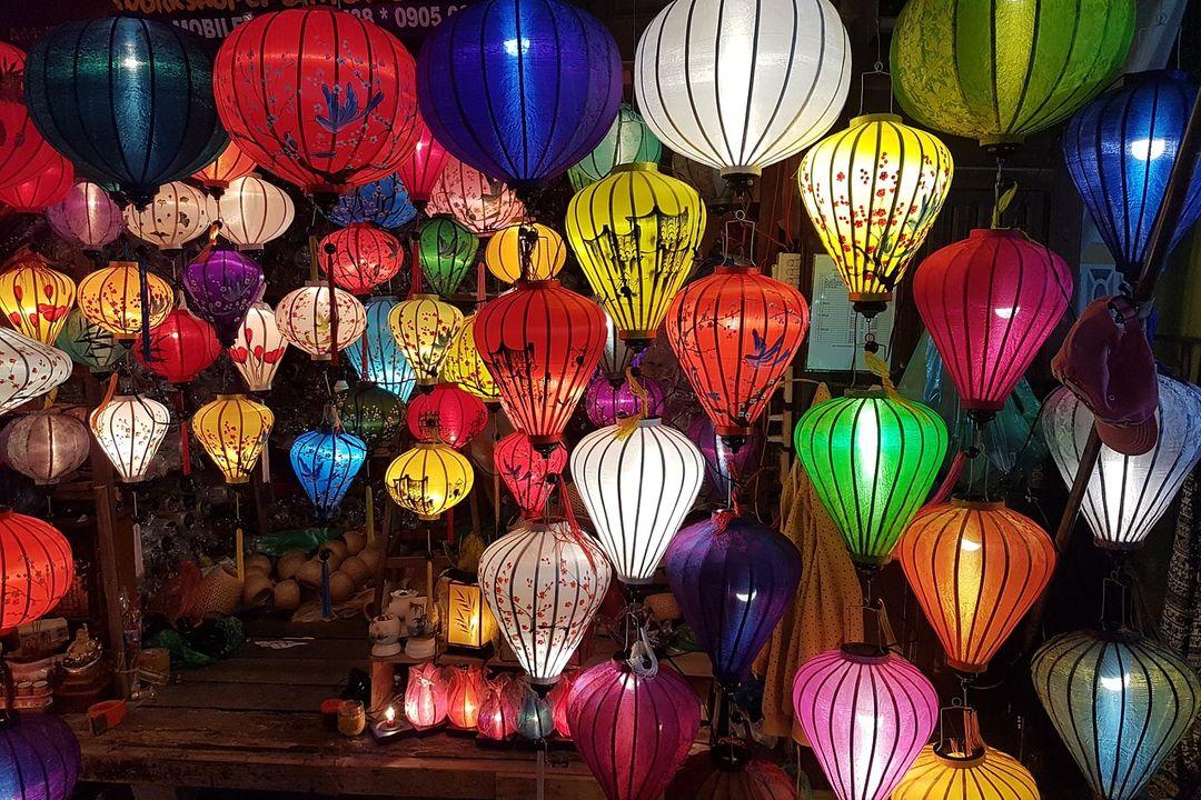 Hoi An lanterns   Vietnam motorbike tours   Saigon Riders