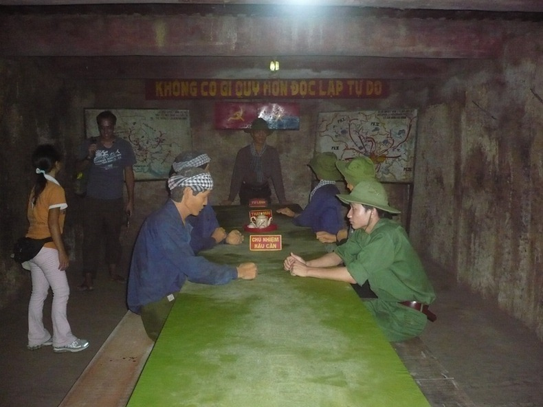 meeting room Cu Chi Tunnels | Saigon Riders
