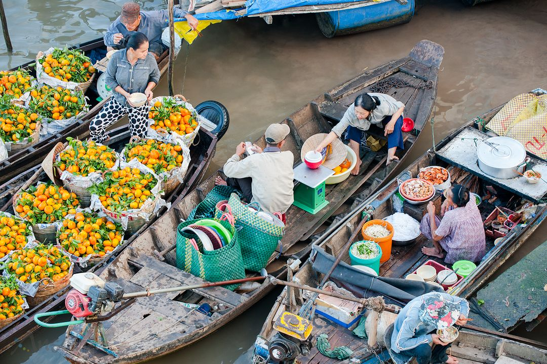 Cai Rang Floating market, Can Tho, Vietnam | Saigon Riders