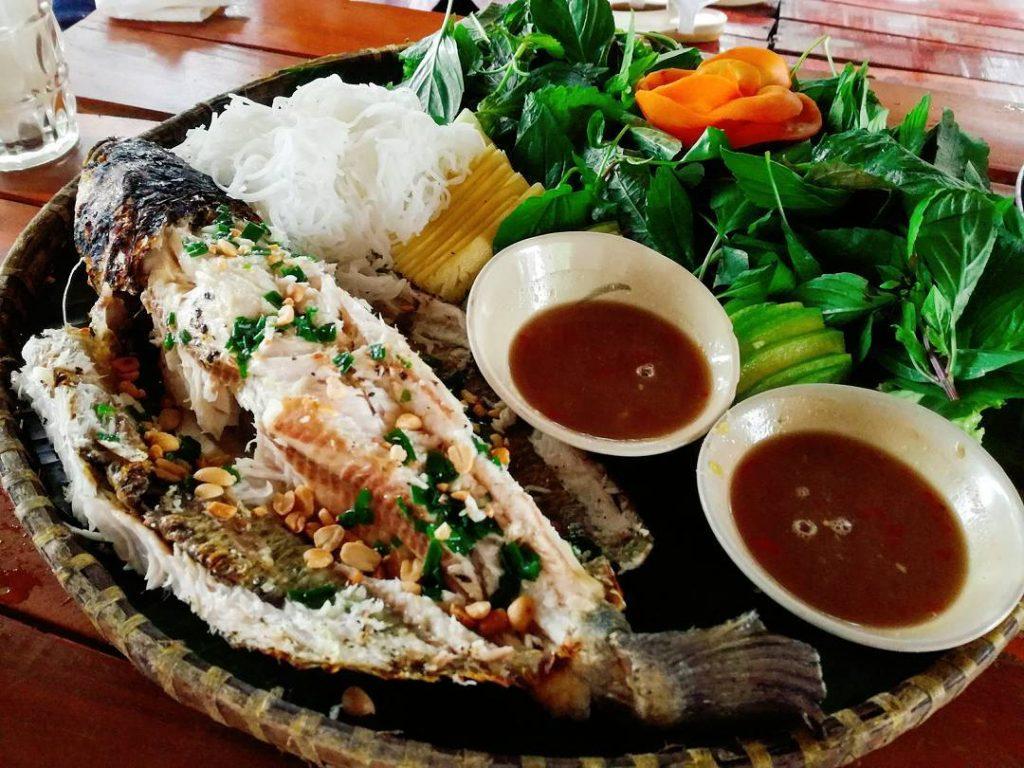 Grilled Mekong River Fish _ Saigon Riders