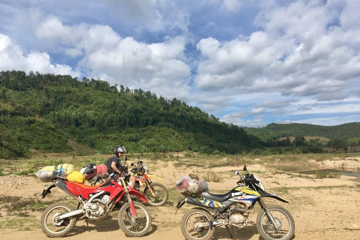 Discover wildlife of singing gibbons and crocodiles in Nam Cat Tien dirt bike tour