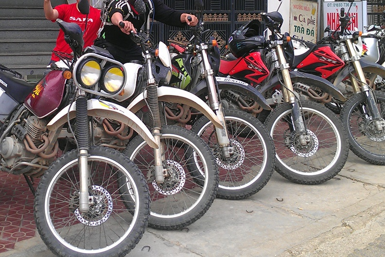 Best option for the adventure travelers is an enduro motorbike