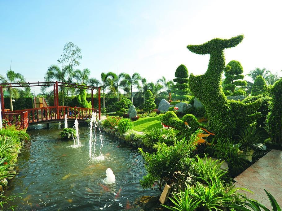 Fantastic landscape of Forever green