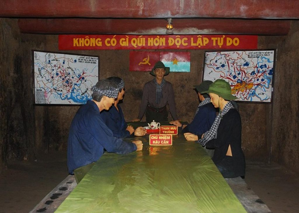 Meeting room is necessary for underground operation of Viet Cong army