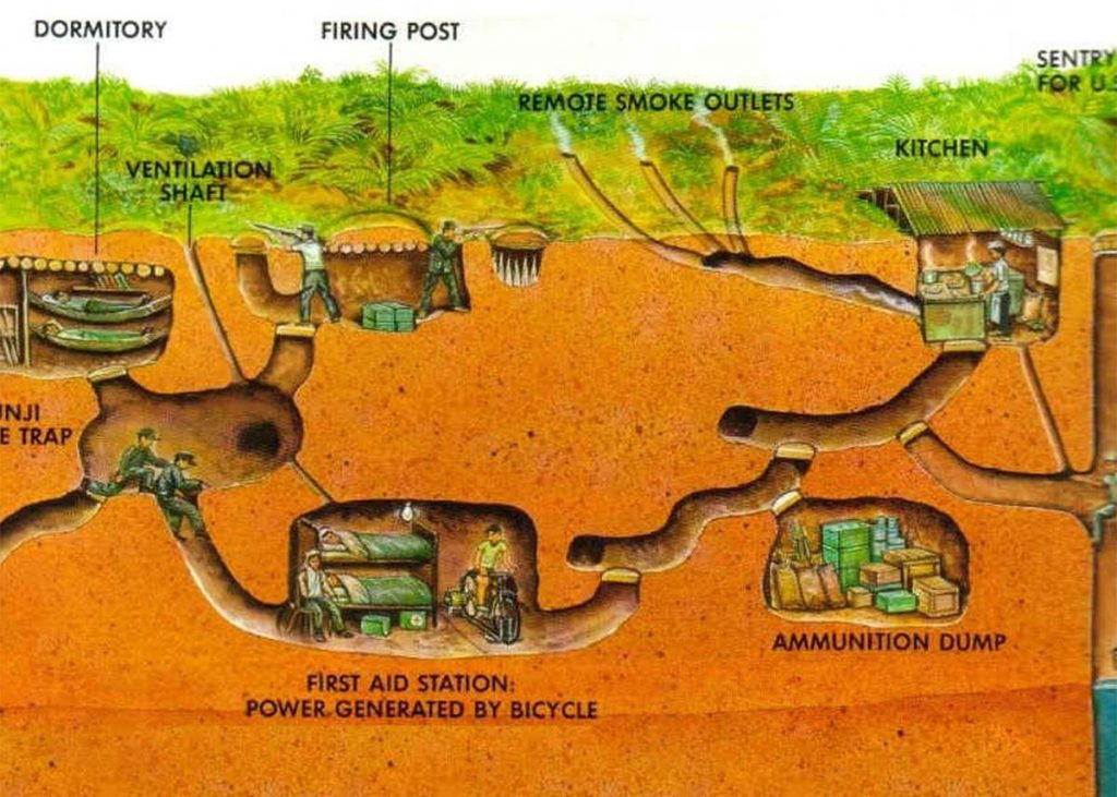 The delicacy structure of Cu Chi tunnels attract many visitors