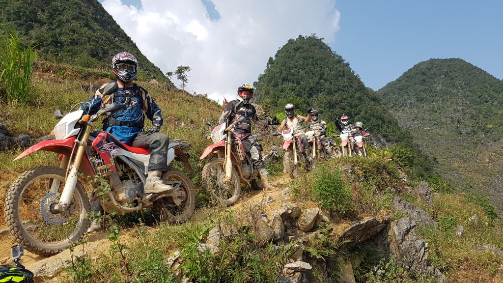 Touring on dirt bikes in the North is the most challenging of all routes in Vietnam