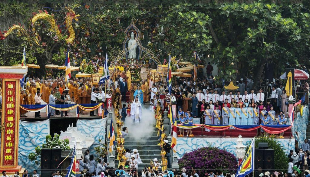 The festival with many cultural series of buddhist events attract lots of visitors