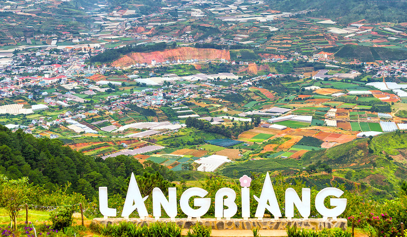 Lang Biang is a famous place in Dalat