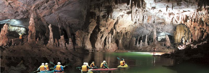 Exotic experience in Phong Nha cave with different adventure activities