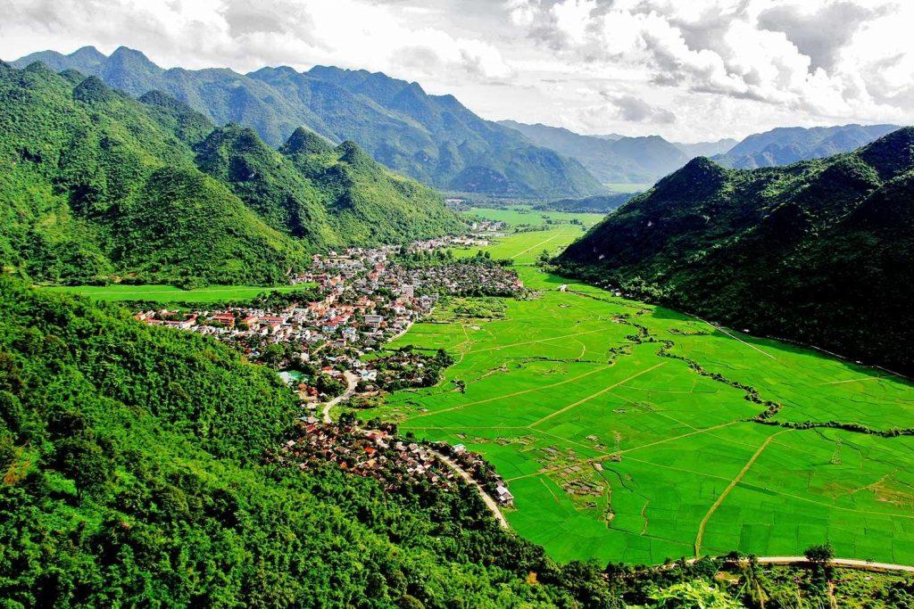 Spectacular landscapes in Mai Chau, Vietnam
